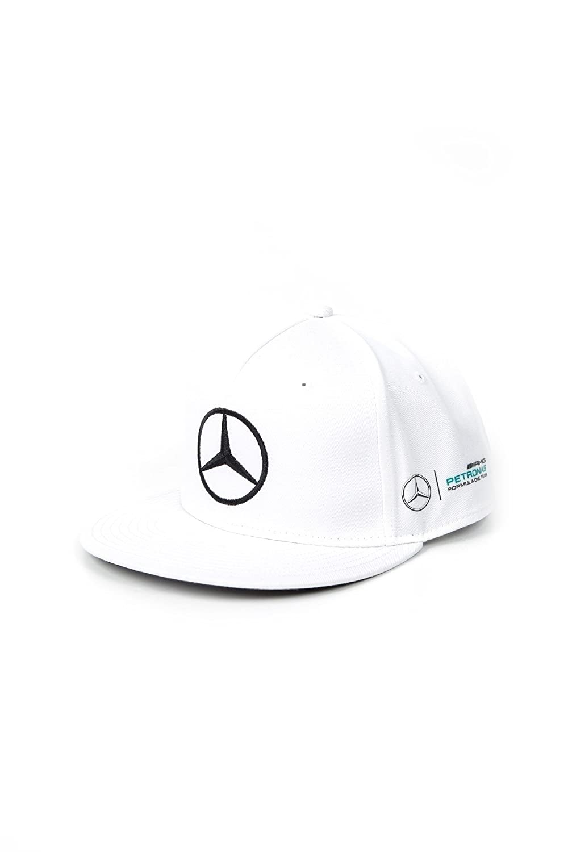 Mercedes AMG Petronas Mamgp RP FLAT Brim Hamilton White Cap, cappellino a visiera piatta da uomo, colore bianco, misura unica MERCEDES AMG PETRONAS (MERX6) 141171032-200