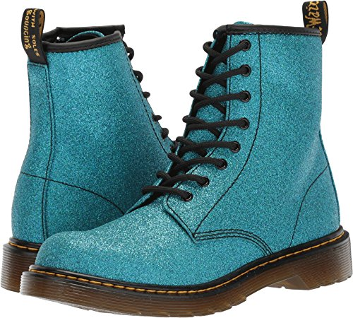 Dr. Martens Girls Delaney Y Gltr Juniors Lace Boot, Size: 5 M US Big Kid/4 F(M) UK Youth, Color Laser Lake Blue Glitter - Uk Sizes Junior