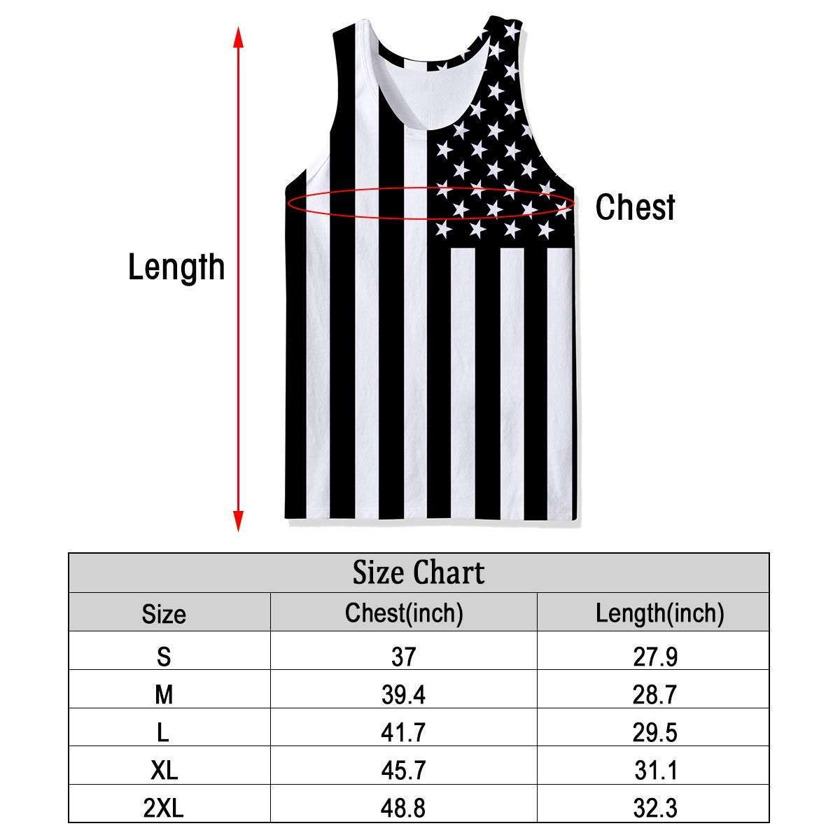 Freshhoodies Mens All Over Print Funny Tank Tops Breathable Summer Casual Sleeveless Beach Graphic Tee//Swimming Trunks