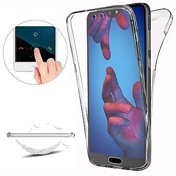 Funda Huawei P20 Pro Carcasas [Nueva Versión] [Cover 360 Grados], Doble Delantera + Trasera Gel Transparente Silicona Integral Shock Absorción Anti ...