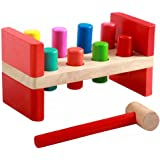 Toyssa First Pounding Bench Peg Wooden Toy With Mallet Early Educational Games for Toddlers Kids (Pounding Toy)