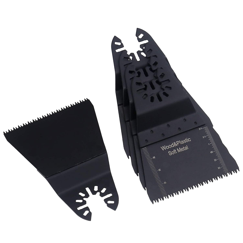 Lote de 5 Hojas de oscilaci/ón para Sierra de Madera multiherramientas oscilantes 65 mm para Bosch Erbauer Makita ENET