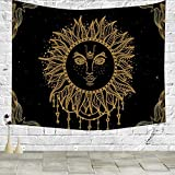 Pillow Cover Retro African Sun Tapestry Wall Hanging Tapestry Blanket Decorate Home Table Bedroom Living Room 60x50 inches Sun