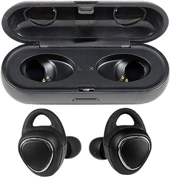 Auriculares INALÁMBRICOS Bluetooth 5.0 Premium con Estuche DE Carga INALÁMBRICA (Negro): Amazon.es: Electrónica