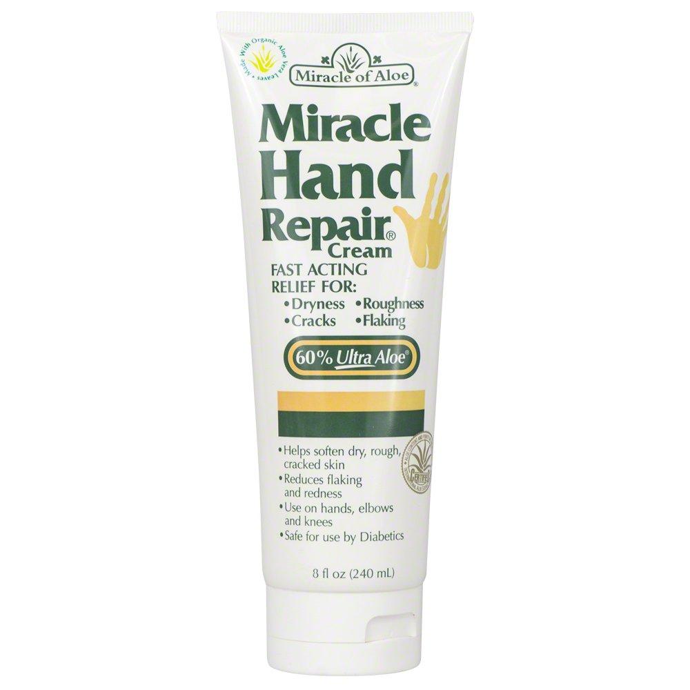 Miracle of Aloe, Miracle Hand Repair Cream with 60% UltraAloe 8 ounce tube 240