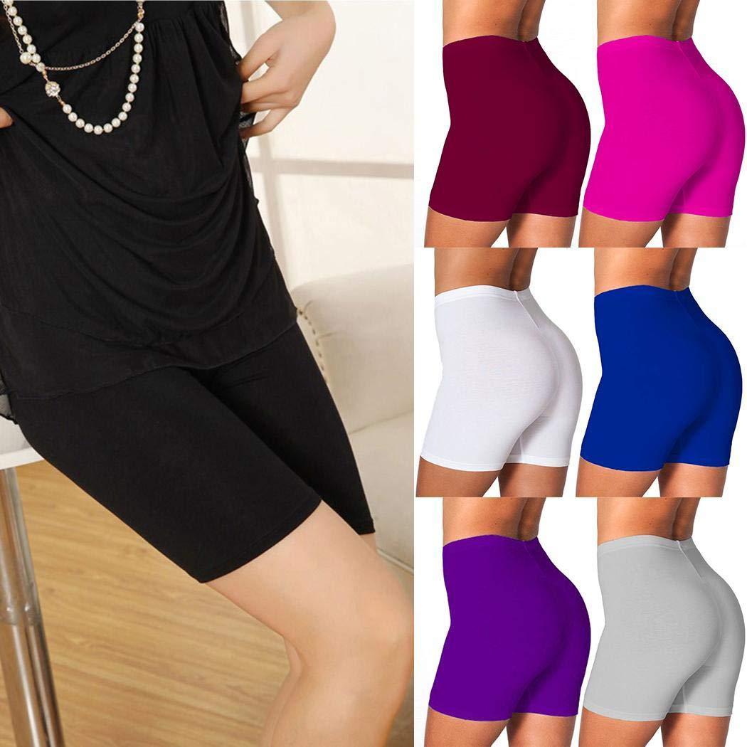 UpBeauty New Women Solid Comfortable Elastic Waist Underwear Panties Boy Shorts S-3XL Black