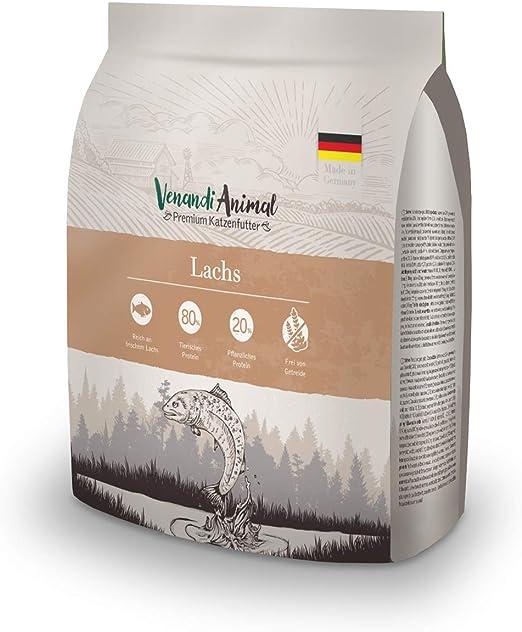 Venandi Animal - pienso seco para Gatos - Salmón como pienso seco - Completamente Libre de Cereales - 300 g: Amazon.es: Productos para mascotas
