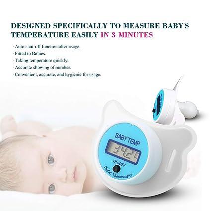 Práctico Bebé Niño LCD Boca Digital Nipple Chupete Termómetro Temperatura Infantil Bebé Monitores de Cuidado de