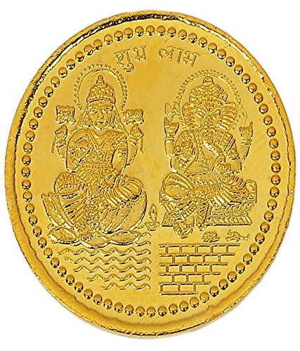 24 carat gold coins laxmi ganesh sikka