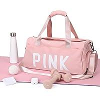 HPLQQ Sport Gym Bag Womens Duffel Tassen voor vrouwen Waterdichte Holdall Training Handtas voor meisjes met Schoenen…