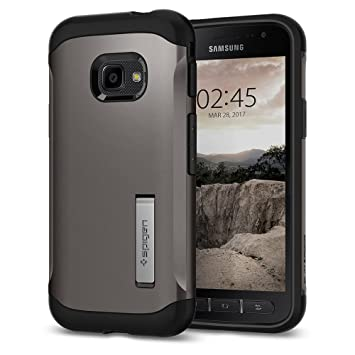 best sneakers 40dd0 44bb9 Spigen [Slim Armor] [Gunmetal] Case for Galaxy Xcover 4 Case, Air Cushion  Technology and Hybrid Drop Protection Phone Case Cover for Xcover 4 Case -  ...