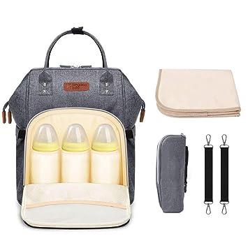 Amazon.com: eastshining bolsa de pañales mochila de ancho ...