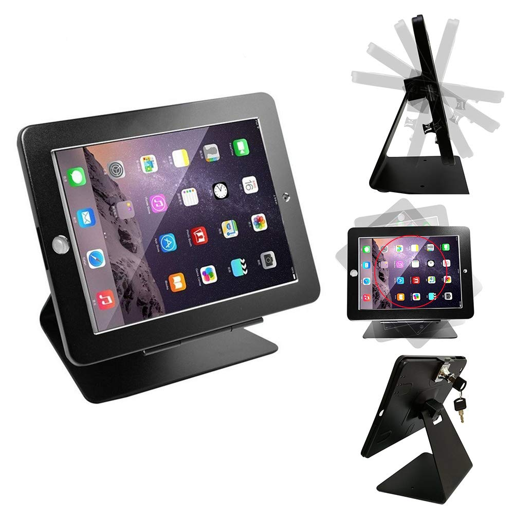 Locking Tablet Enclosure for POS and Retail Countertop Use Mount-It Works with iPad 9.7 iPad 6 MI-3771B Anti-Theft Kiosk Mount Compatible with iPad iPad Air Black Metal Casing