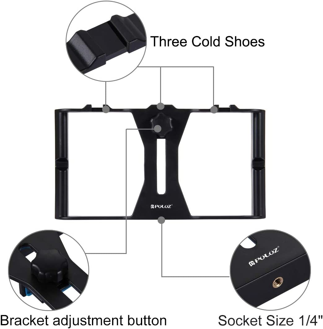 Xiaomi and Other Smartphones Camera 3 in 1 Live Broadcast LED Selfie Light Smartphone Video Rig Kits with Microphone HTC Huawei Cold Shoe Tripod Head for iPhone Google Galaxy LG