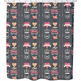 Uneekee Every Day Is Valentines Day Shower Curtain: Large Waterproof Luxurious Bathroom Design Woven Fabric