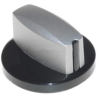 Spares2go - Pomo de control para horno Neff (plata/negro)