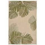 Liora Manne Veranda Soft Fronds Rug, Indoor/Outdoor, 7'10'' by 9'10'', Green/Off-White