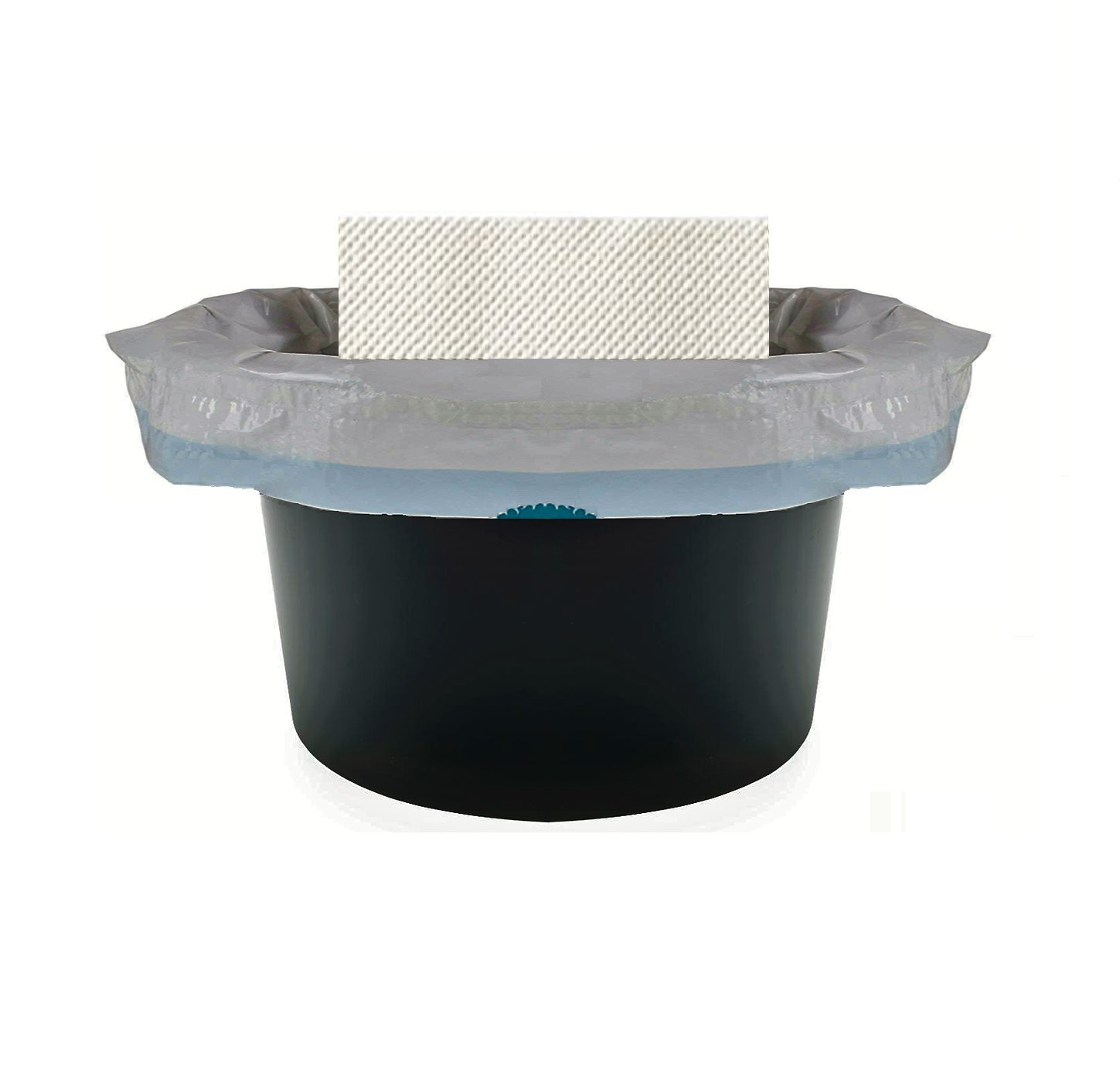 Vakly Commode Liners with Super Absorbent Pads (48 Pack) Fits All Standard Commodes