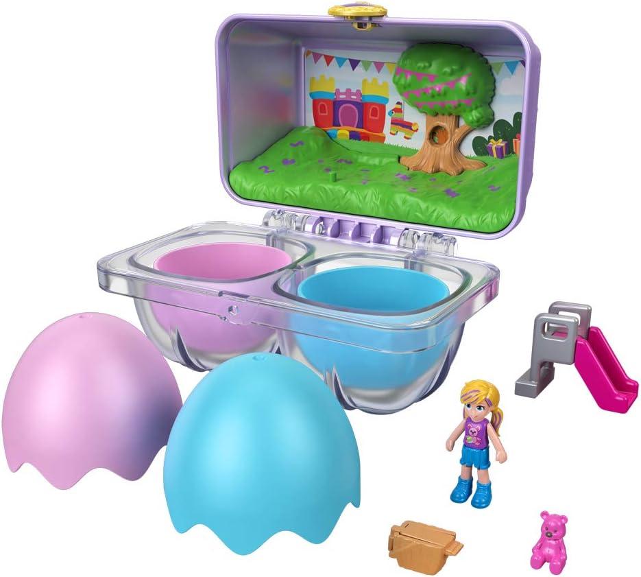 Polly Pocket Mystery Surprise Egg Carton Purple Birthday Party Bounce House Theme