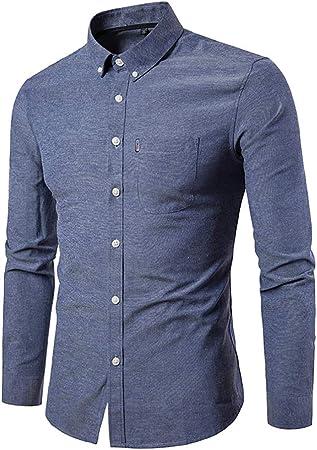 Camisa de los Hombres, Camisa Rosada Hombres Chemise Homme Diseño de Moda de Manga Larga Slim Fit Business Camisas de Vestir para Hombre Causal Camisas para Hombre de Color sólido: Amazon.es: Jardín