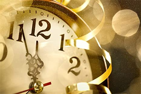 leyiyi 10x8ft vintage clock backdrop happy new year eve midnight luxury confetti old rome watch bokeh