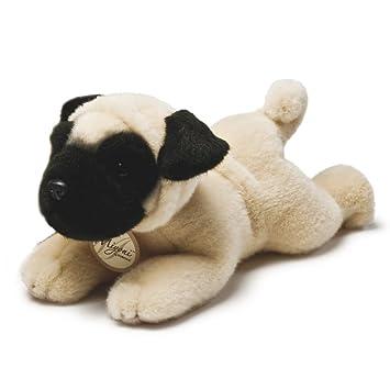 Miyoni - Perro Pug de peluche, 21 cm, color canela y negro (Aurora