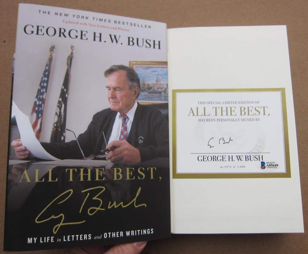 President George HW Bush 41 signed Book All The Best BAS Beckett COA Auth