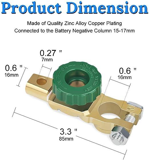 Interruttore di disconnessione della Batteria Interruttori per auto con pomello verde NSTART Interruttori di isolamento batteria per auto,Interruttore di collegamento del terminale della batteria