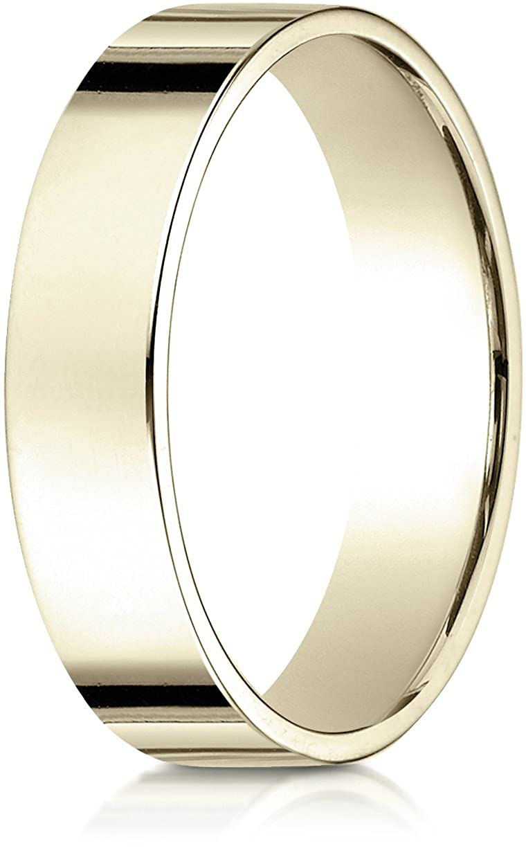 5f7f9056770f6 Benchmark 14K Yellow Gold 5mm Traditional Flat Wedding Band Ring ...