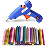 PENGPAI 2019 Upgraded Mini Hot Melt Glue Gun with 55pcs Color Glue Sticks, Removable Anti-hot Cover Glue Gun for DIY Small Craft Projects & Sealing and Quick Daily Repairs 20-watt