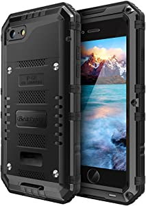 Beasyjoy iPhone 7 Case iPhone 8/SE Case Heavy Duty Metal Case Screen Full Body Hard Tough Rugged Cover Shockproof Drop Proof Military Grade Durable Defender