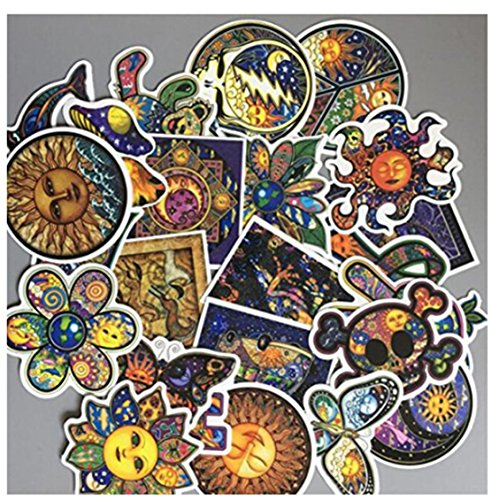 Heyuni. 25Pcs Waterproof Illustrated Art Graffiti Sticker De