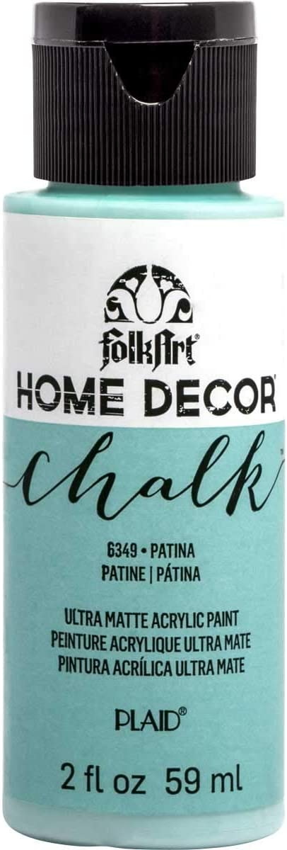 FolkArt 36327 Home Decor Chalk Furniture & Craft Paint in Assorted Colors, 2 ounce, Patina