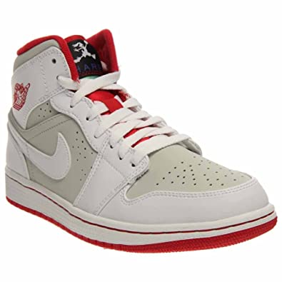 459a8670ff5d2a NIKE Jordan Mens 1 MID WB White Light Silver Black True RED 719551