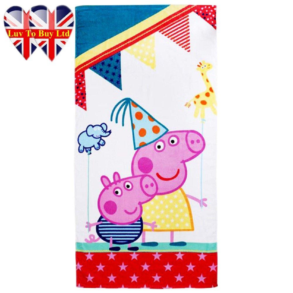Niños Peppa Pig parque de atracciones Toalla - algodón 100%: Amazon.es: Bebé