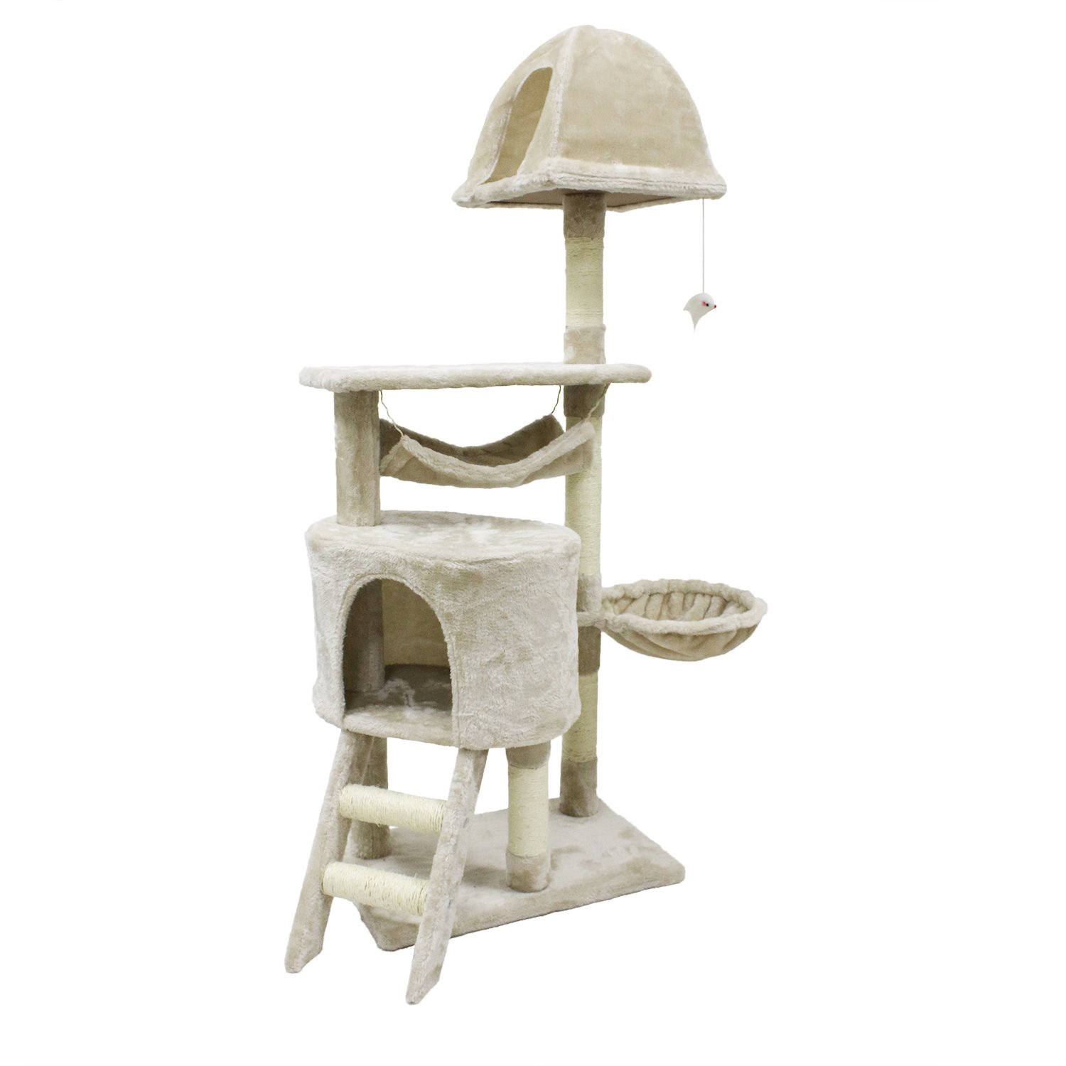 CUPETS Cat Tree Flannelette Cat Climber Play House Condo Furniture with Scratching Post, Activity Tree Pet Products for…