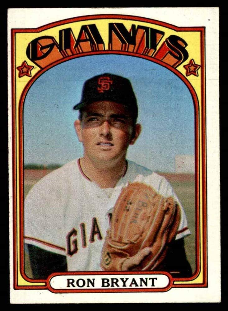 Amazon.com: 1972 Topps # 185 Ron Bryant San Francisco Giants (Baseball  Card) EX Giants: Collectibles & Fine Art