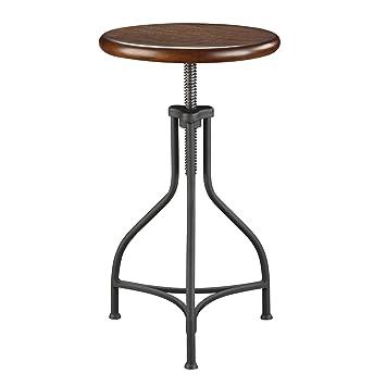 Carolina Chair and Table Adjustable Logan Metal Stool with Wood Seat  sc 1 st  Amazon.com & Amazon.com: Carolina Chair and Table Adjustable Logan Metal Stool ... islam-shia.org