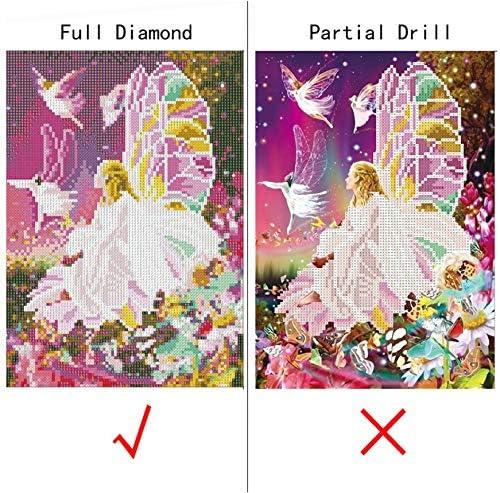 Broderie Diamant Kit Complet Bricolage 5D Diamant Peinture Lavande Paysage Diamant Broderie Image De Strass D/écoration Diamant Rond