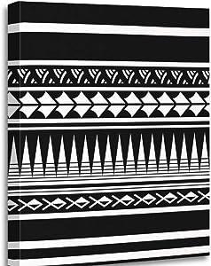 Altuny Canvas Print Wall Art Painting Pictures Polynesian Maori Tattoo Sleeve Samoan Sketch Forearm Stencil Bracelet 12x16 Inch Artwork Modern Decor for Living Room Bedroom Bathroom Great Gift