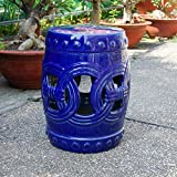 International Caravan Infinity Chain Garden Stool - Navy
