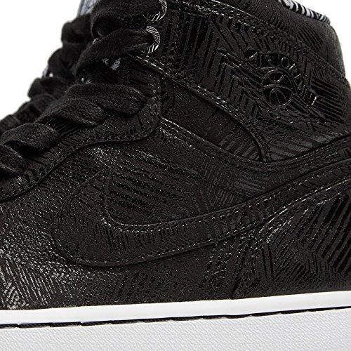 Nike Air Jordan 1 Retro High Bhm, Zapatillas de Deporte para Hombre Negro / Blanco (Black / White)