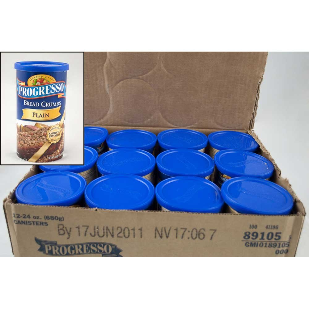 Progresso Plain Bread Crumbs 24 oz (Pack of 12)
