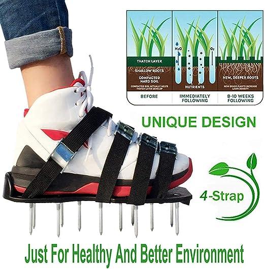 EPGFD Sandalias/Zapatos de aireación de aireador de jardín, Zapatos de Suelo Suelto de césped, Sandalias de aireación de césped, Herramientas de jardinería para Suelo Suelto: Amazon.es: Jardín