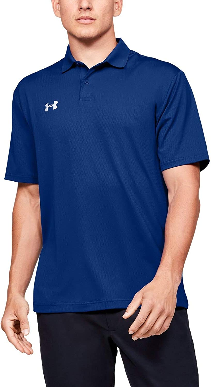 Royal, Large Under Armour Mens Team Performance Polo