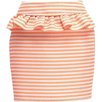 Barbie Peach and White Striped Peplum Skirt Fashion Pack: Toys & Games