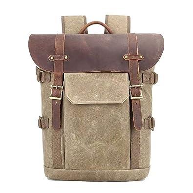Dreneco Bolso Para Cámara, Unisex Casual Vintage Canvas Backpack ...
