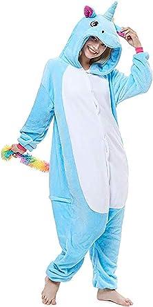 Disfraz de Unicornio Adulto arcoíris para Mujer Chicas Pijama de ...