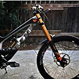 All Mountain Style AMSFG2CLCM Honeycomb High Impact Frame Guard Extra - Protects Your Bike from Scratches and dings, Clear/Camo