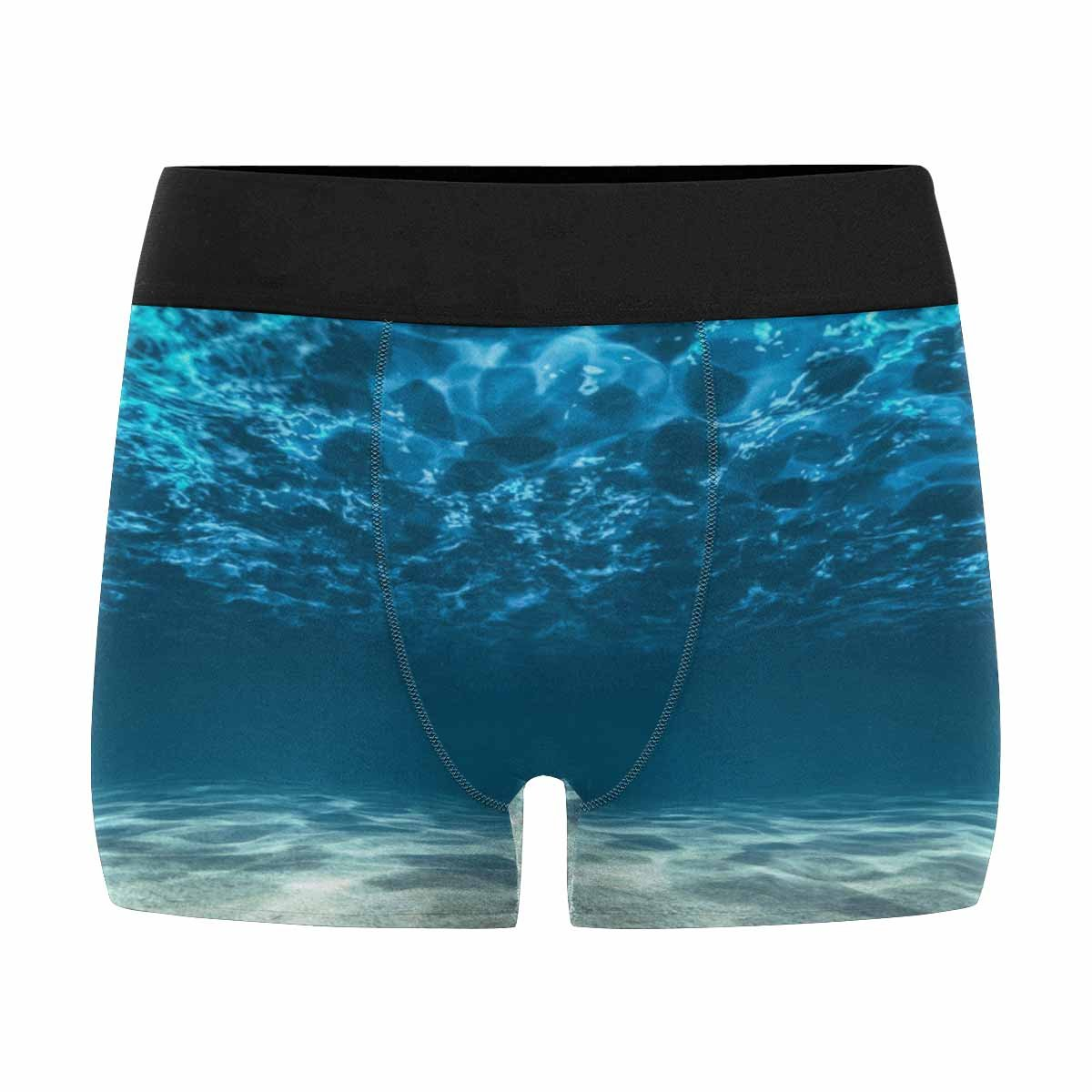 XS-3XL Ocean Bottom and Surface INTERESTPRINT Custom Mens All-Over Print Boxer Briefs Underwater